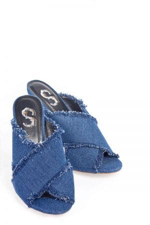 DENIM CROSS STRAPS
