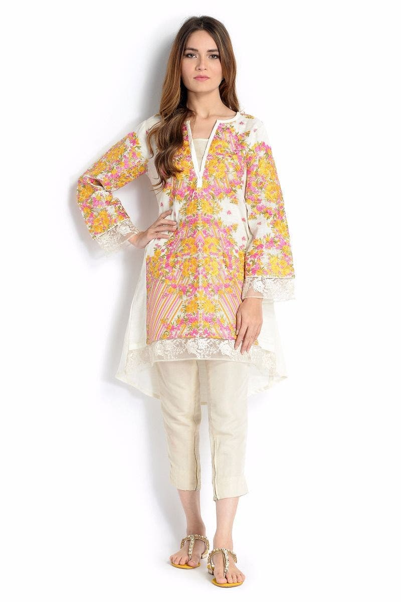 Autumn Light Sana Safinaz Chic Ready to Wear Winter Dresses 2017