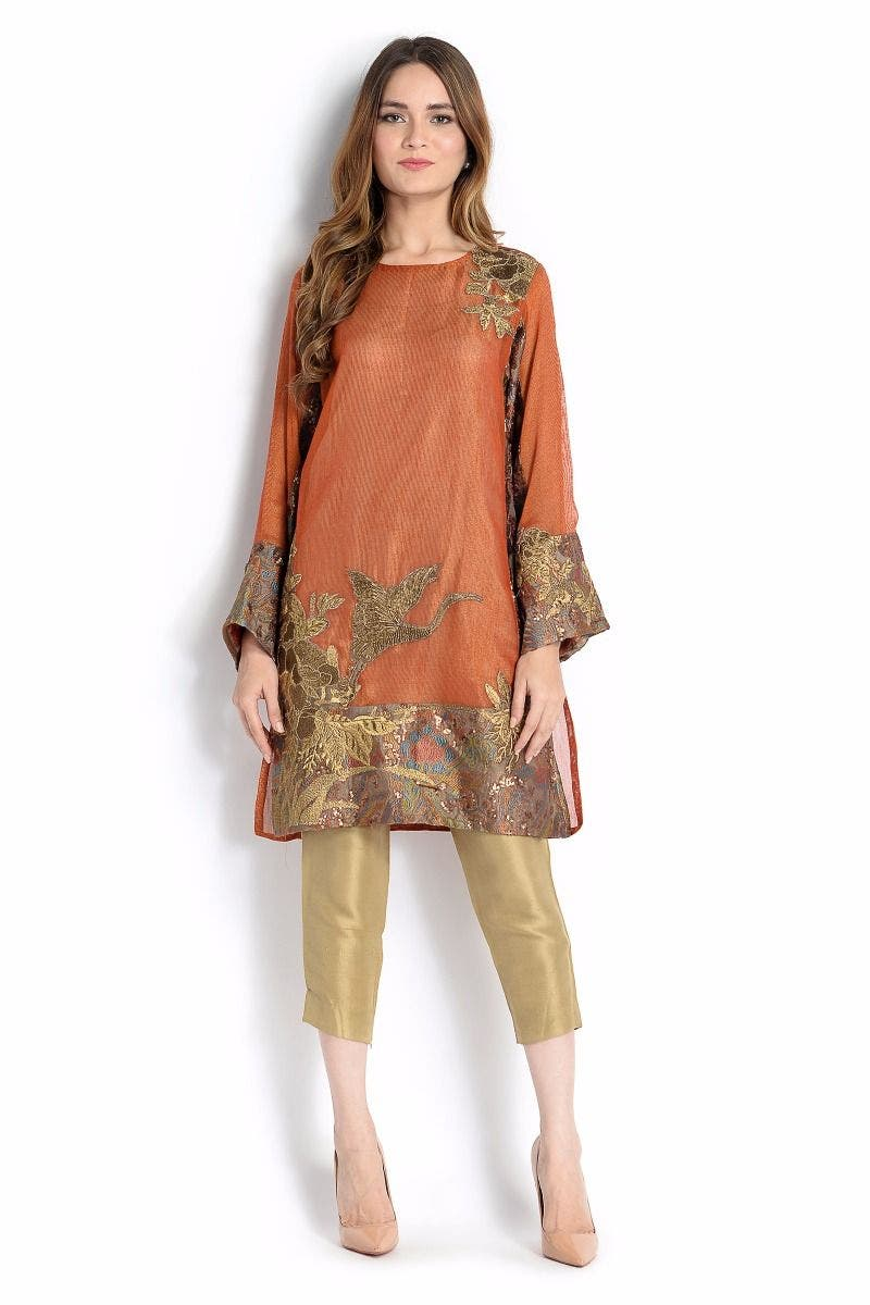 DESSERT DUSK Sana Safinaz Chic Ready to Wear Winter Dresses