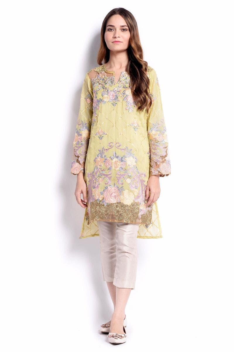 Fiona Sana Safinaz Chic Ready to Wear Winter Dresses 2017