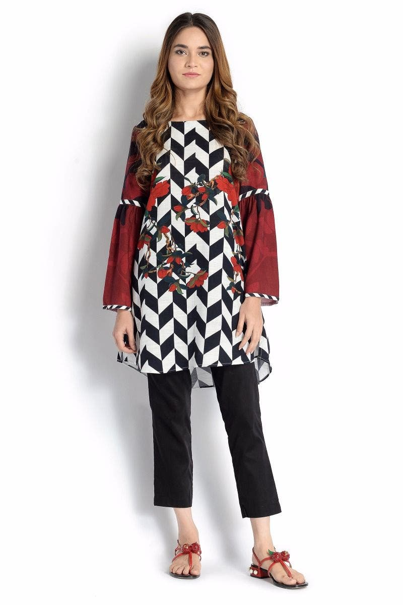 Fine Lines Sana Safinaz Chic Ready to Wear Winter Dresses