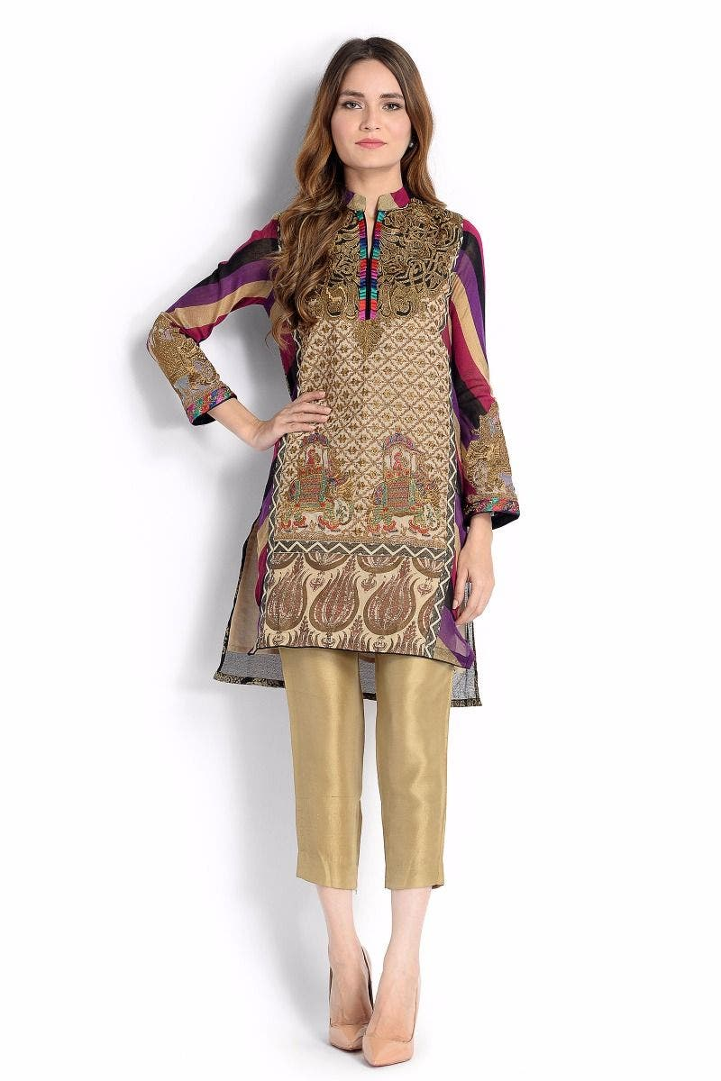 Splash Sana Safinaz Chic Ready to Wear Winter Dresses 2017