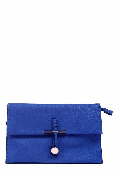 BLUE FLAT CROSS BODY