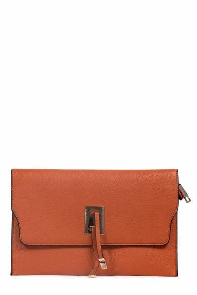 ORANGE FLAT CROSS BODY