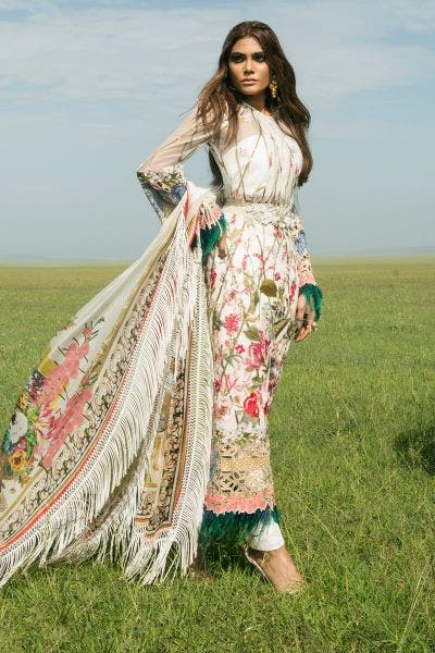 White Embroidered Lawn By Sana Safinaz