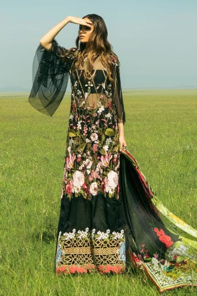 Black Embroidered Lawn By Sana Safinaz